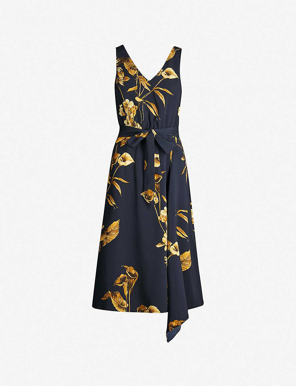162c5384a8f1 TED BAKER - Fantasia floral-print flared crepe dress