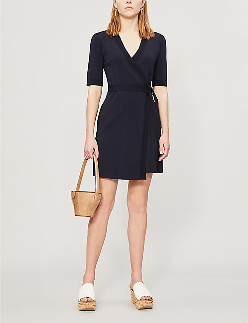 6b027c43419e TED BAKER Stefo knitted stretch-knit wrap midi dress. Quick Shop