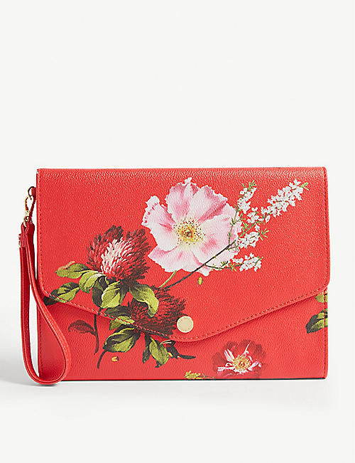 a61145b09 TED BAKER Floore Berry Sundae print envelope clutch