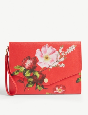 TED BAKER Floore Berry Sundae print envelope clutch