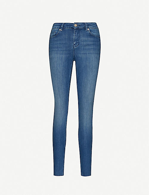 TED BAKER: Skinny high-rise stretch-denim jeans
