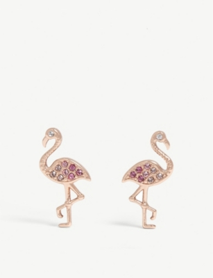 TED BAKER Faei flamingo earrings