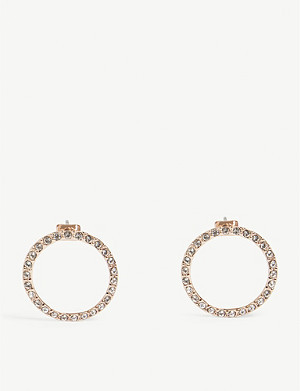 TED BAKER Leeza crystal-embellished circle earrings