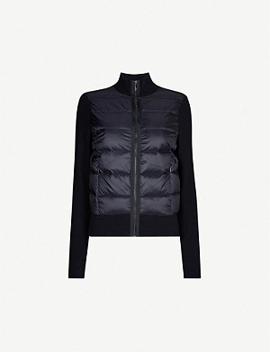 TED BAKER Xinta cotton-knit and shell-down jacket