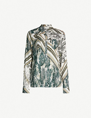 TED BAKER Quartz animal-print woven shirt