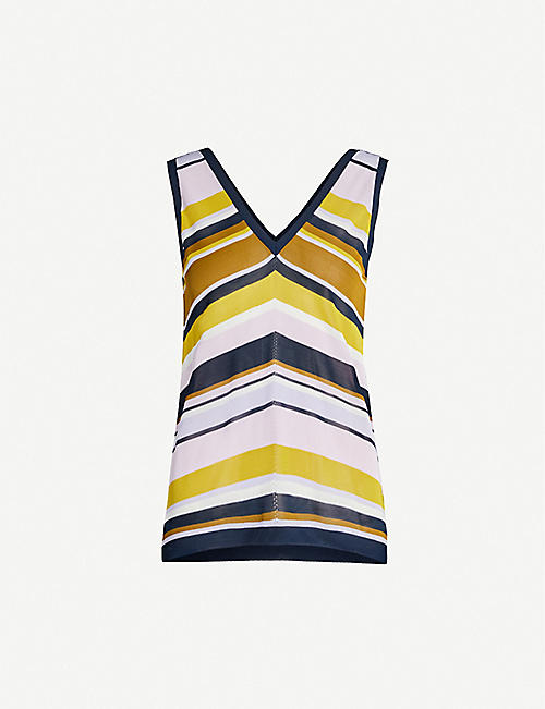 TED BAKER Maple sleeveless relaxed-fit knitted vest