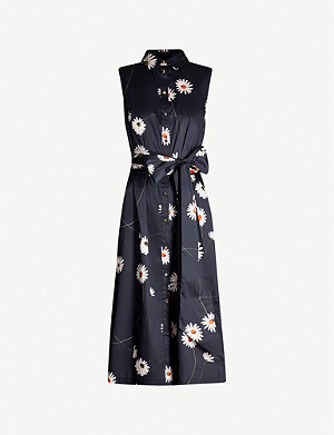 TED BAKER Bonina daisy-print stretch-cotton dress