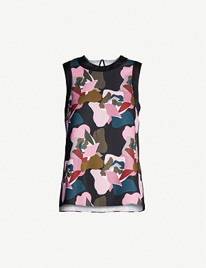 TED BAKER Maple graphic-print woven tunic top