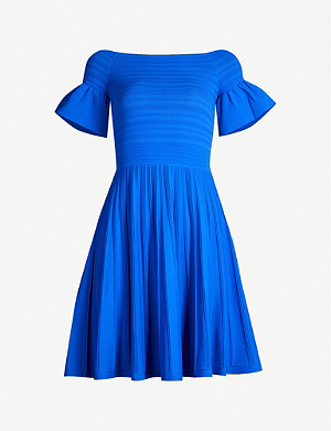 TED BAKER Criptum Bardot stretch-knit skater dress