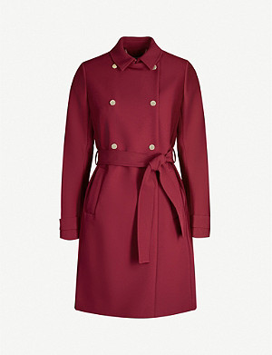 TED BAKER Mirrored-button double-breasted woven coat