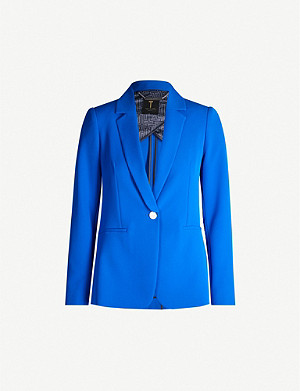 TED BAKER Longline single-breasted crepe blazer
