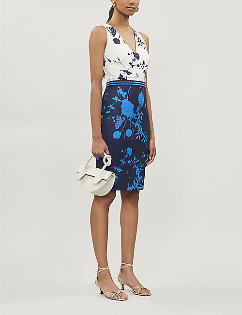 TED BAKER Bluebell-print stretch-jersey dress