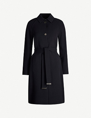TED BAKER Asymmetric mirrored-button woven coat