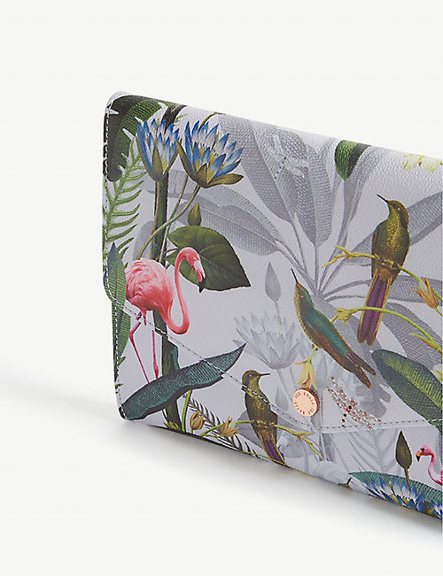 TED BAKER Aziza Pistachio print envelope clutch