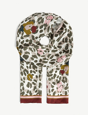 TED BAKER Leopard print scarf