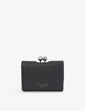 TED BAKER Suri mini leather bobble purse