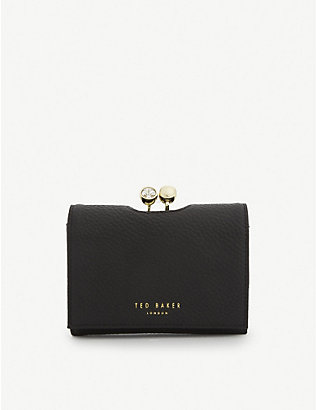 TED BAKER: Suri mini leather bobble purse