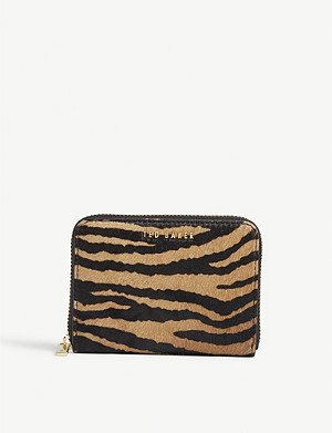 TED BAKER Tiger print pony hair mini purse