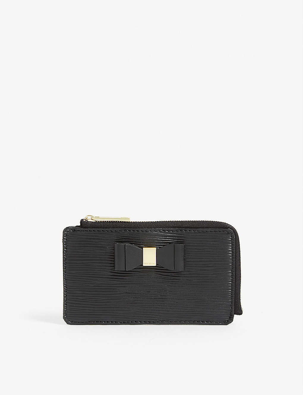 TED BAKER: Blueb bow detail leather card holder