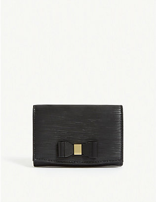TED BAKER: Spriggs bow detail leather purse