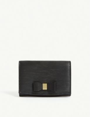 TED BAKER Spriggs bow detail leather purse