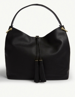 Demmi Grained Leather Hobo Bag by Ted Baker
