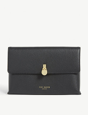 TED BAKER Zarina padlock detail leather washbag