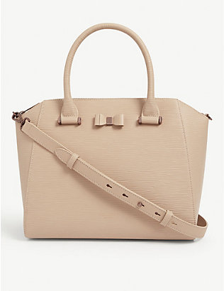 TED BAKER: Jaelynn bow detail leather tote