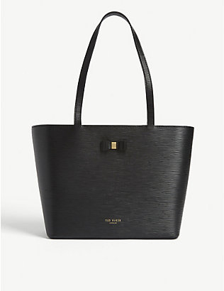 TED BAKER: Bow detail leather tote