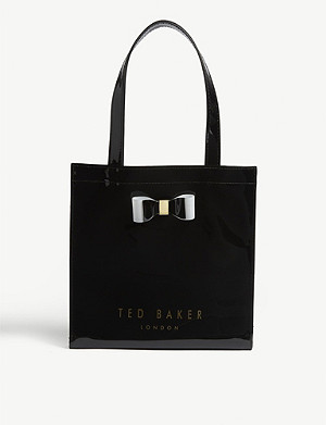TED BAKER Bow detail small PVC tote bag