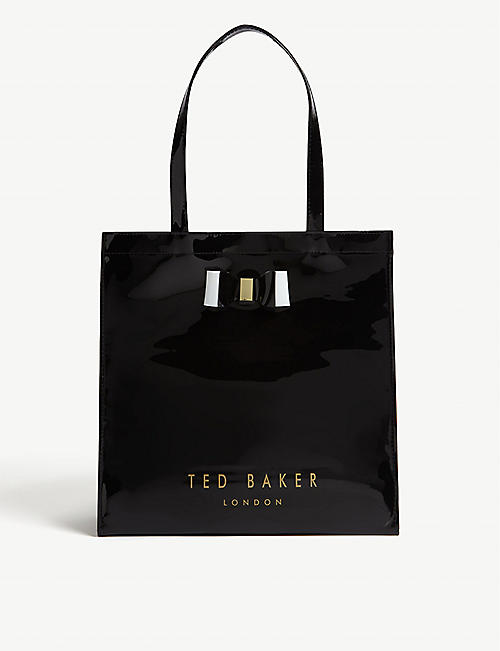 TED BAKER Bow detail PVC shopper