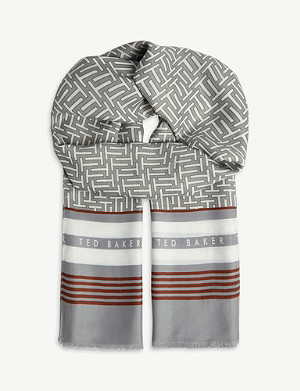 TED BAKER Baaker T print scarf