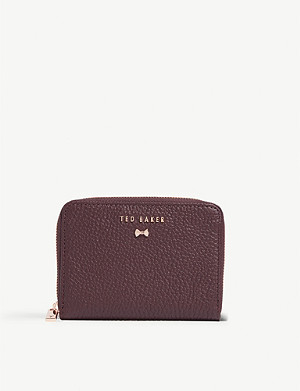 TED BAKER Illdey grained leather purse