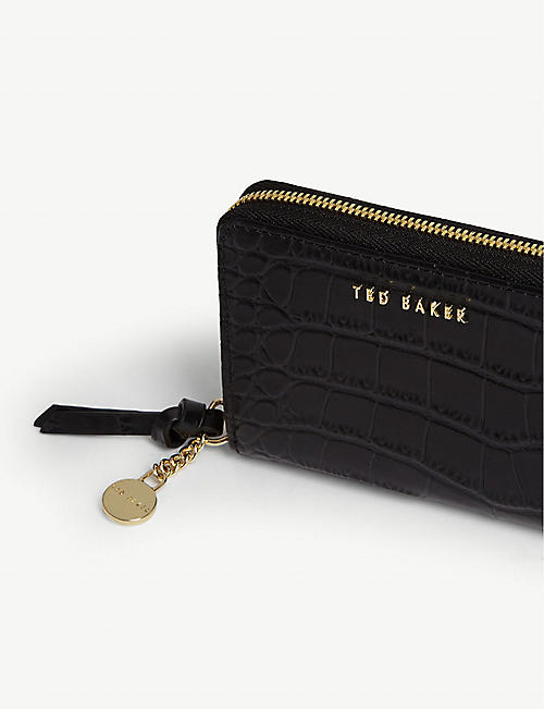 TED BAKER Exotic leather mini purse