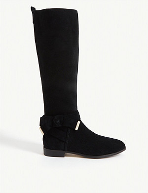 TED BAKER Sintiia suede knee-high boots
