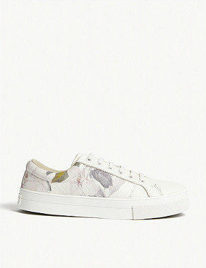 TED BAKER Floral Tennis trainers