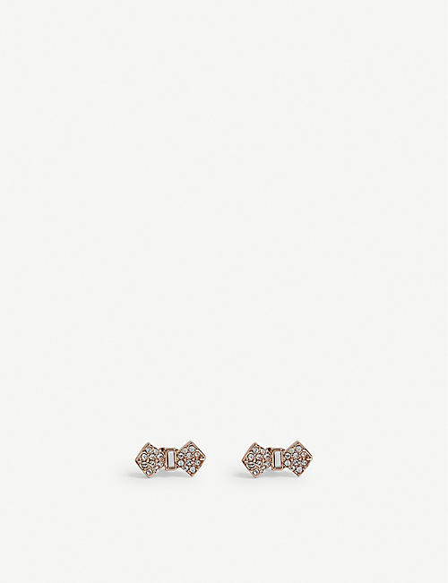 TED BAKER Sersi crystal bow earrings