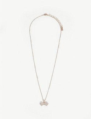TED BAKER Sandra crystal bow necklace