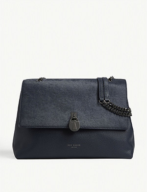 TED BAKER Hermiaa pony-style hair and leather shoulder bag