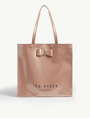 TED BAKER Glitter Icon shopper bag