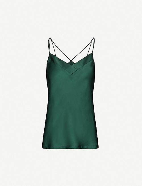 TED BAKER: Emelee skinny strap crepe camisole