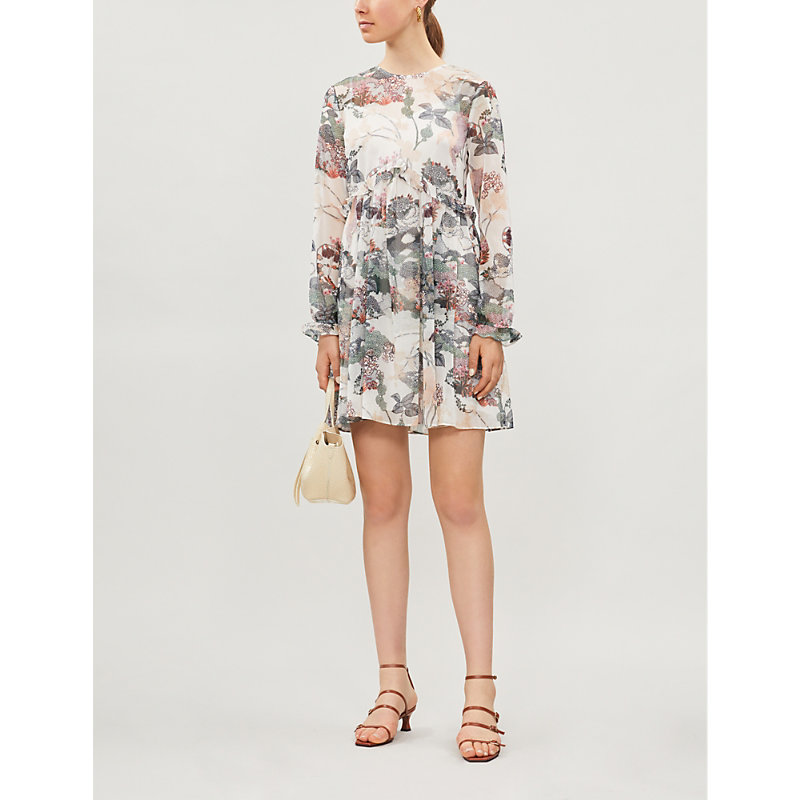 Ted Baker Dresses FRILLED FLORAL-PRINT WOVEN DRESS