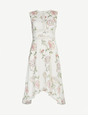 TED BAKER Damita floral-print crepe mini dress