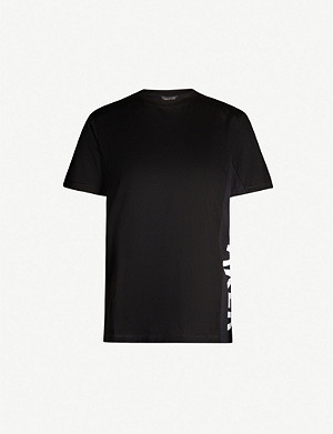 TED BAKER Graphic logo-side cotton-jersey T-shirt