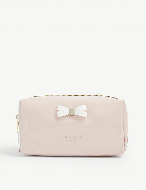 TED BAKER Eulali bow detail vinyl make-up bag