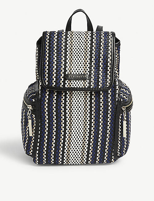 TED BAKER Allizza woven drawstring backpack