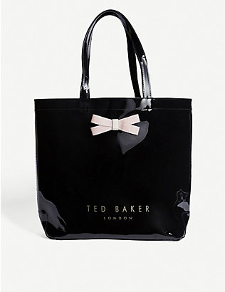 TED BAKER: Gabycon bow detail PVC tote