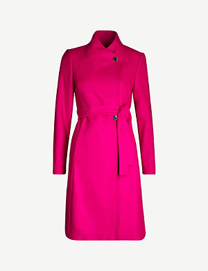 TED BAKER Skyyler belted wool-blend wrap coat