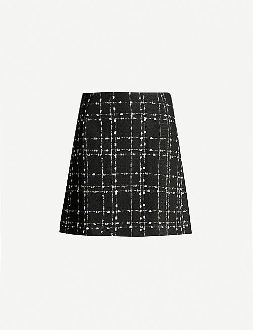TED BAKER Metallic bouclé mini skirt