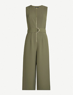 TED BAKER Volenti belted cropped crepe jumpsuit